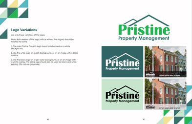 Pristine Properties logo useage brand guidelines