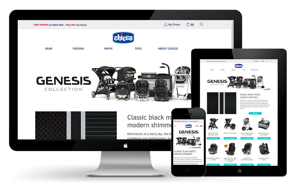Chicco USA Genesis color collection landing page