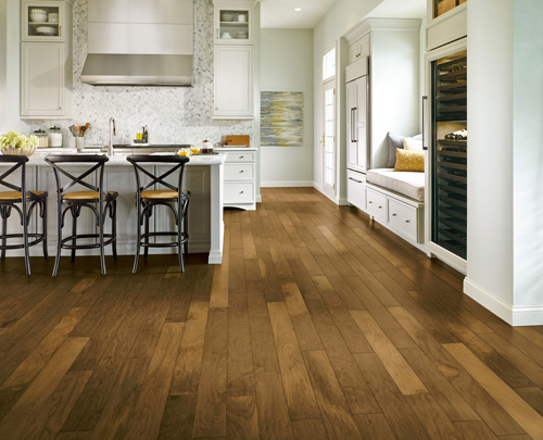 Armstrong Flooring colorized room scene - walnut