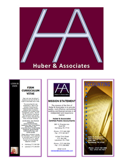 Original Huber & Associates logo and brochure