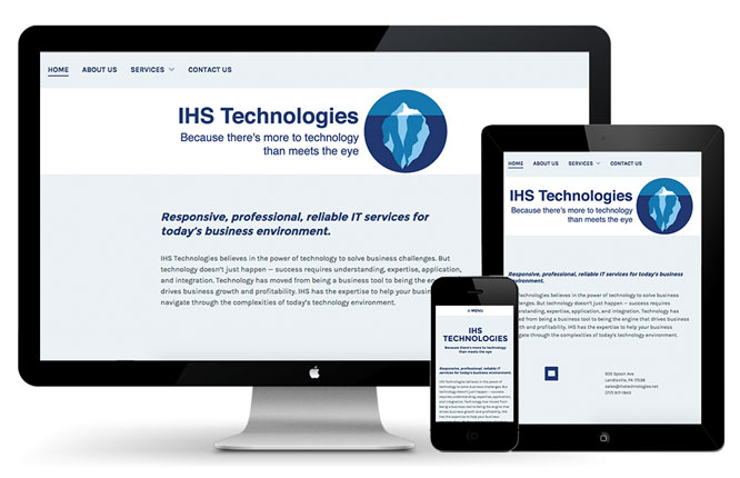 IHS Technologies responsive website design