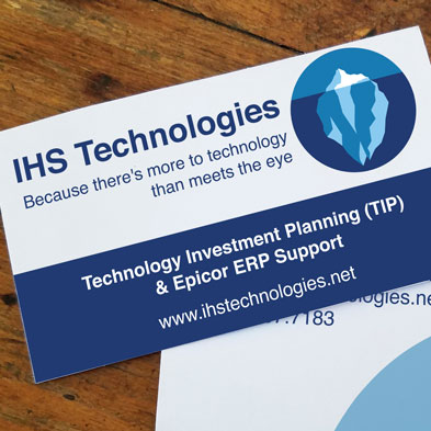IHS Technologies business cards